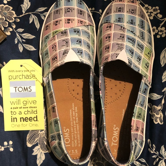 Toms Shoes Bnwt Kids Periodic Table Poshmark